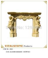 Wholesale Fireplace ornaments decoration roman column vintage stone fireplace