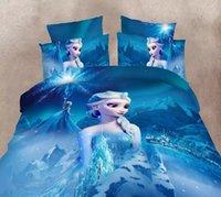 Wholesale New arrive Frozen D bedding set Frozen Bedding Duvet Cover Set Cotton Kids Bedding Set For