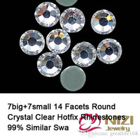 better than good - Excellent Quality Hotfix Rhinestones Round Iron On Crystal Clear Strass Flatback Facets Glass Rhinestones Better Than DMC Rhinestones