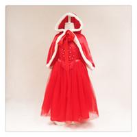 Wholesale XMAS Girls hooded frozen shawl Hoodie snow dress frozen hooded dress hooded cape costume frozen dress frozen princess frozen fancy dress