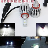 Wholesale 2015 W LM H7 Cree LED Headlight Conversion Kit Driving Lamp Bulb Xenon Motorcycle Car Light Source K
