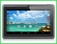 Wholesale 7 Inch A33 Quad Core Q88 Tablet PC Allwinner Android KitKat Capacitive GHz DDR3 MB RAM GB ROM Dual Camera Flashlight A23 MQ10