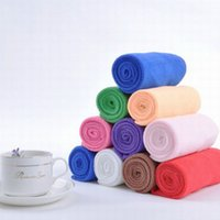 Wholesale 30cmx60CM Microfiber Fabric Solid Printed Towel Hair Face Towel Fast Drying Towels Face Hand Car Cloth For Adults Cleaning