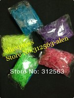 Cheap (600 band) DIY loom bands glow in the dark colorful Rubber refill bag 50bags lot