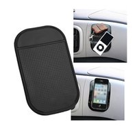Wholesale Black sticky Anti Slip Mat Non Slip Car Dashboard Magic Sticky Pads Mat For mp3 mp4 Phone stick colors available with package