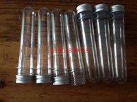 plastic test tubes - 1200pcs New ML Clear Plastic Tube Plastic Bottle Test Tube Shape With Aluminum Cap