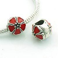 antique white color - Fashion Metal Pandora Beads Antique Silver Color Oils Tower Big Hole Loose Beads European Charm DIY Bracelets Accessories