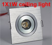 1W No LED Free shipping 1*1W led downlight square led lamp epistar chip high power led indoor cabinet light 110-220V