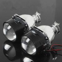 al por mayor bi xenon projector lens-1 par de lentes WST 2,5 pulgadas bi xenón H4 H7 BiXenon lente bi-xenón proyector H1, coche de motocicletas H11,9005,9006 ocultó faros lente del proyector