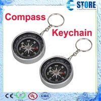 Wholesale In stock Compass for Camping Hiking Hunting ABS Plastic with KeyChain Ring Survival M