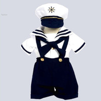 bebe white romper - Baby romper summer clothing newborn baby boy clothes navy style clothing baby overall bebe boys sailor bodysuit Y