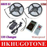 Waterproof IP67 lumières de Noël 10M 5050 RGB Dream Color Magic 6803IC lumières led 133 Change RF Remote et 12V6A 72W Power led light