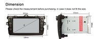 dual cd player - Dual core Android Toyota corolla Car DVD GPS Navigation capacitive G Wifi G CPU GB Flash