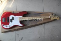 Wholesale Wine red sparkle color basswood material body string bass electric guitar