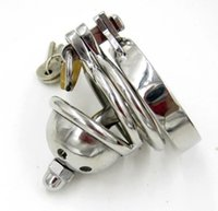 male chastity device super small - Stainless Steel Super Small Male Chastity device Cock Cage With Removable Urethra Stretching Catheter Sex Toys Bondage Chastity Belt
