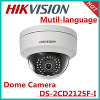 Wholesale hikvision mutil language MP network dome camera DS CD2125F I support SD card ip67 waterproof vandal proof IK10 onvif POE camera
