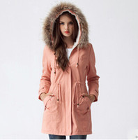 coats and jackets - Winter coat women winter suit for women leisure fur collar hooded with velvet cotton womens winter coats and jackets