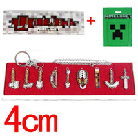 keychina - Minecraft MC Keychina Necklace Minecraft Sword Figure Toys for Kids Chindren cm Set with box Brand New