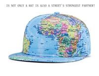 baseball globe - 2015 new D Globe printed baseball cap Men and Women hip hop cap flat brimmed hat fashion tide models hip hop hat Snapback