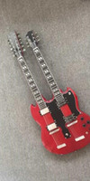 Wholesale Hot Selling New Style Double Neck Guitar Apple Red Custom Shop double Neck strings Electric Guitar