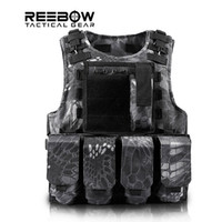 airsoft black vest - Fall Outdoor Army Tactical Professional Vest with Molle System One Size Camouflage for Airsoft Hunting Wargame Combat Military