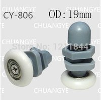 Wholesale mm nylon pulley sliding door wheels circular arc glass shower room pulley sliding door OD