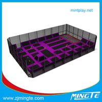 Wholesale MT2015003T Custom made trampolines Bungee Trampoline Customization attractive outdoor homemade playground equipment