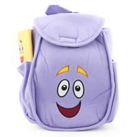 game dora - Dora The Explorer Mr Face Plush Backpack Shool Bag Purple Retail