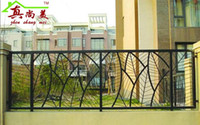 Metal outdoor iron railings - European outdoor rail fence wrought iron fence fence fence outdoor garden balcony guardrail village building stair