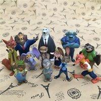 Wholesale 12pcs cm new Movie Zootopia Cartoon Utopia Action Figure Movie Pvc Mini Models Nick Fox Judy Rabbit