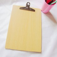 Wholesale WOODEN QUALITY CLIPBOARDS a4 size Environmental protection density board production Durable and not afraid of breaking