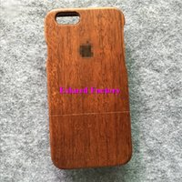 apple mark - Wooden S Plus Cover Cases for iPhone S Plus Genuine Real Wood Rosewood Back Cover For iPhone S S Plus quot Housing Apple Mark