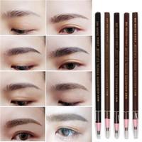 beauty lovers - Hot Selling Soft Crayon Waterproof Eyebrow Pencil Eyeliner Pen Colors Fashion Women Beauty Makeup Eyebrow Enhancer Eye Liner Lover Gift