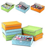 bamboo fabric underwear - Storage Box of Underwear and Socks Colorful Storage Box Bamboo Charcoal Box Clothing Organizer Container Box