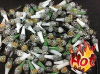 Cheap Glass tank dry herb atomizer for ego battery bulb atomizer Dry Herb Wax Vaporizer herbal vaporizers pen electronic cigarettes vapor