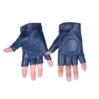 mens sports gloves - Mens Leather Motorcycle Gloves Cheap Bike Riding Gloves Pure Colors Fingerless Sports Gloves For Sale Sporting Equipment