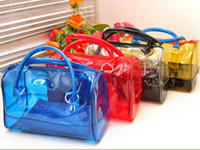 jelly bag - Summer in1 PVC Transparent Bucket Bags Sweet Jelly Woman Clear Shoulder Zipper Bag Handbag