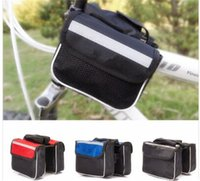 Wholesale Colors Cycling Outdoor Traveling Road MTB Bicycle Bike Frame Saddle Bag Pannier Front Tube Bags Double Sides
