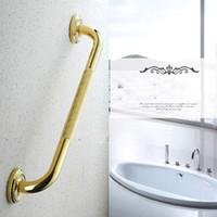bathroom safety elderly - Non slip Handle bathroom bathtub Grab Bars Continental carved golden full copper bathroom safety Handrail elderly
