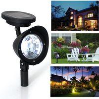 Wholesale 2015 NEW LED Solar Power Garden Lamp Spot Light Outdoor Lawn Landscape Path Spotlight