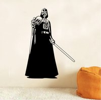 Wholesale Big Size Star Wars Wall Stickers Home Decor Darth Vader Sword D Wallpapers Wall Decals Children Removable Novelty Wallpaper for Kids Room
