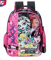 Wholesale 2015 newKids School Bags Monster High Elves High School Girl bags Children s bags kids school bags Backpacks with d butterfly Backpack Bag