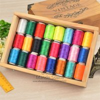 Wholesale 24 Rolls Assorted Colour Spools Finest Quality Sewing Cotton Thread All Purpose