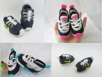 Wholesale Drop shipping Knitted Crochet kids Sneakers Crochet toddler sports Shoes soft baby shoes Booties unisex floor walking shoes pairs
