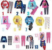 Wholesale Frozen Child Pyjamas Children Clothing Boy Girl Childrens Sleepwear Kids Underwear Trousers Long sleeved sets style Select