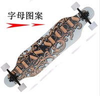 Wholesale longboarding imports adult professional road skateboard downhill longboard skateboard four pole plate YW