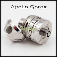 Electronic Cigarette apollo system - 2016 Apollo Qorax RDA Mod Rebuildable Atomizer Vape Clone mm Tank Vapor Mods post system Bottom air airflow Quad Coils setup Vaporizer