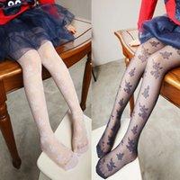 kids pantyhose - 2015 New Summer Big Girls Lace Leggings Baby Printed Pantyhose Kids Long Silk Stocking or Sock Children Costume Long Tight Trousers JH D01