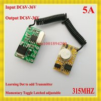 Wholesale DC6V V RX DC3V V TX RF Remote Control Switch Mos Contactless Receiver Power ON Transmitting Transmitter Trigger M T