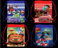 logo design free - Free Sgipping kids Party Gifts Cars Design Cartoon Drawstring Backpack Bag School bags kids Cartoon Logo Bags Non Woven CM